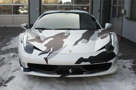 Camouflage Folierung Eines Ferrari 458 Italia Military