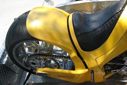 Lamborghini Gallardo mit Anhänger und Chopper Custom Bike