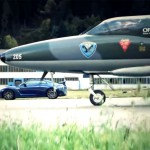 Dragrace Nissan GT-R vs. Kampfjet