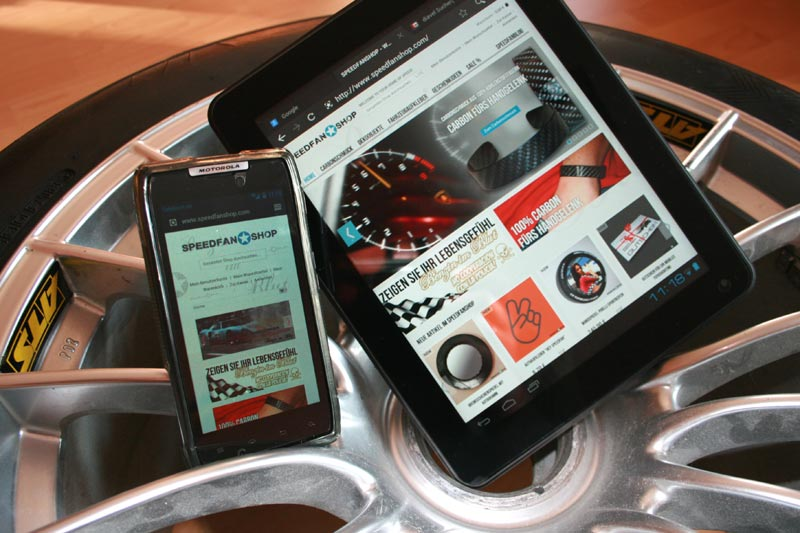 Mobiles Shopping im SPEEDFANSHOP