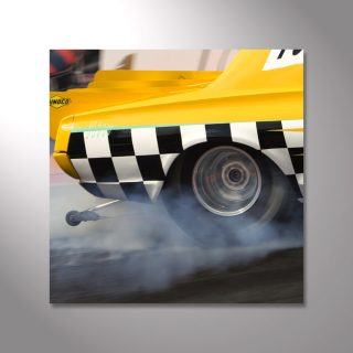 Wandbild Dragster Burnout
