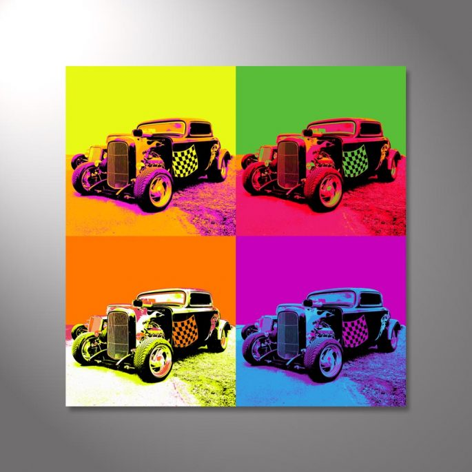 Wandbild Hot Rod Pop Art