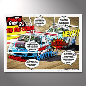 "Wandbild Porsche Motorsport ""Race Comic"""
